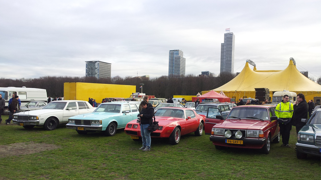 Oldtimersprotest op Haags Malieveld