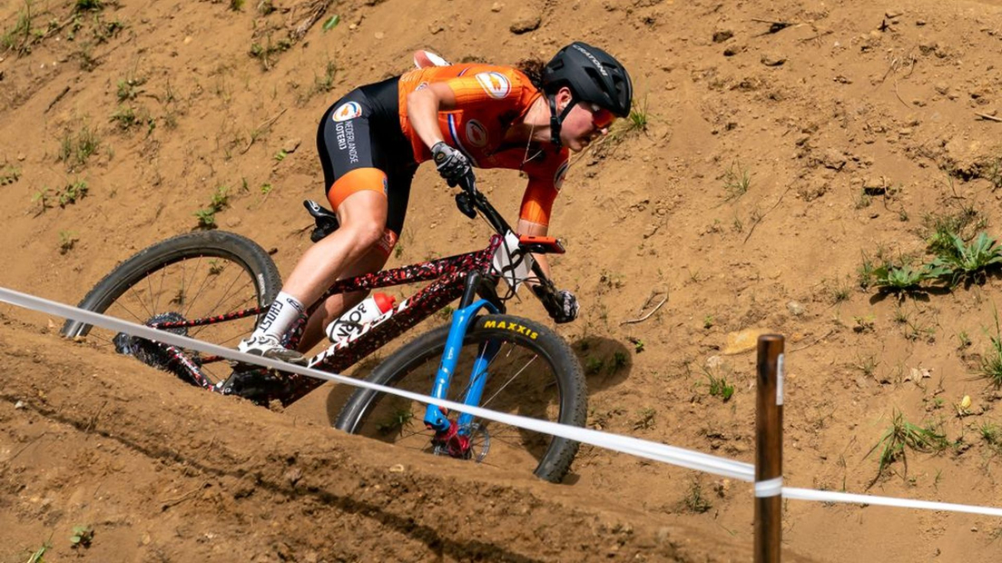 Anne Terpstra in actie.